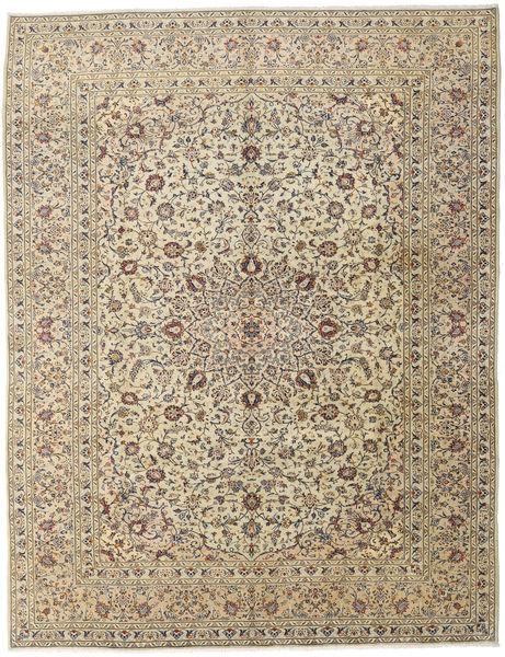 Keshan Rug 296X386 Authentic  Oriental Handknotted Light Brown/Dark Grey Large (Wool, Persia/Iran)
