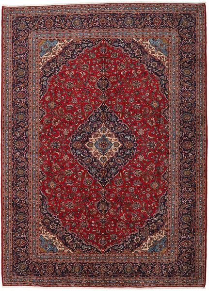 Keshan Rug 301X416 Authentic  Oriental Handknotted Dark Red/Light Purple Large (Wool, Persia/Iran)