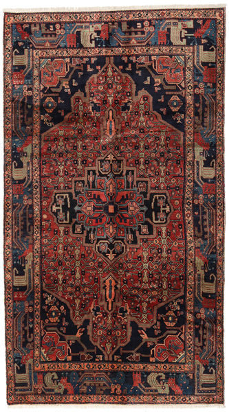 Koliai Teppe 160X287 Ekte Orientalsk Håndknyttet Teppeløpere Mørk Rød (Ull, Persia/Iran)