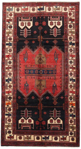 Hamadan Matto 158X287 Itämainen Käsinsolmittu Käytävämatto Tummanpunainen/Ruskea (Villa, Persia/Iran)