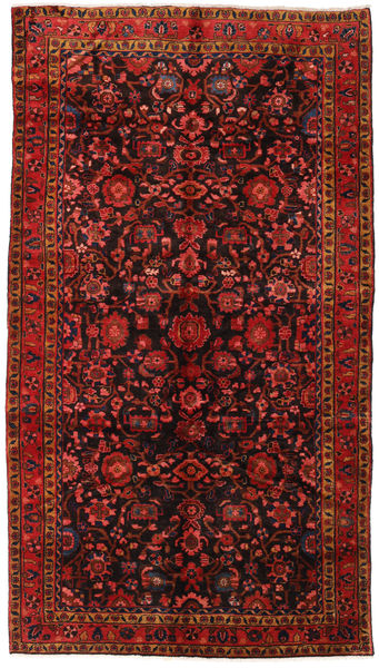 Hamadan Rug 173X305 Authentic  Oriental Handknotted Hallway Runner  Dark Red/Dark Brown (Wool, Persia/Iran)