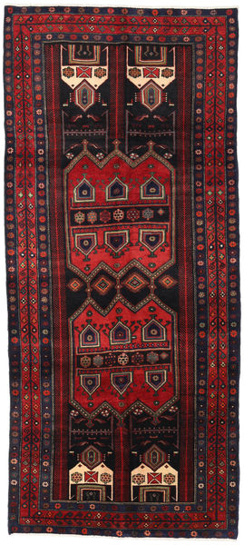 Koliai Alfombra 143X323 Oriental Hecha A Mano Rojo Oscuro (Lana, Persia/Irán)