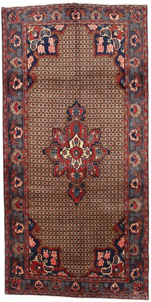 Koliai Rug 145X287 Authentic  Oriental Handknotted Hallway Runner  Dark Red/Dark Grey (Wool, Persia/Iran)