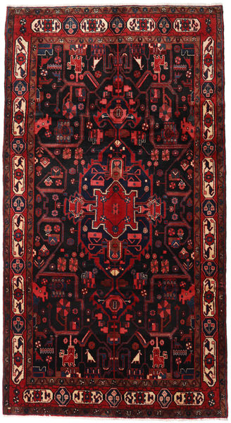 Nahavand Rug 160X298 Authentic  Oriental Handknotted Hallway Runner  Dark Red (Wool, Persia/Iran)