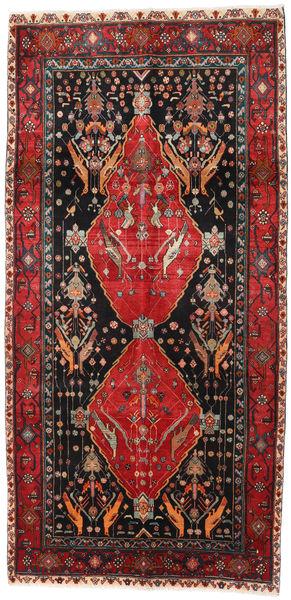 Koliai Rug 142X313 Authentic  Oriental Handknotted Hallway Runner  Black/Brown (Wool, Persia/Iran)