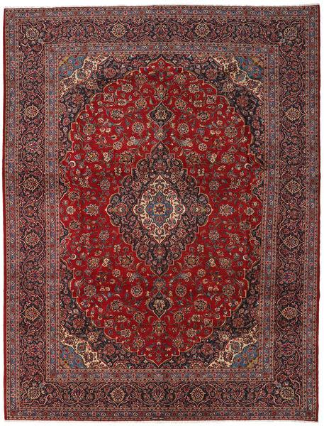 Keshan Matto 300X396 Itämainen Käsinsolmittu Tummanpunainen/Tummanharmaa Isot (Villa, Persia/Iran)