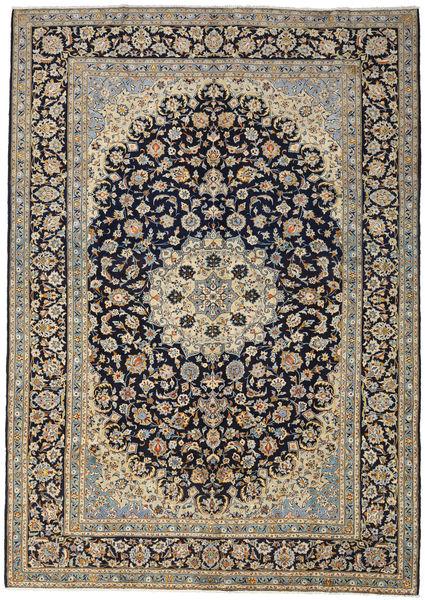 Keshan Rug 273X388 Authentic  Oriental Handknotted Light Grey/Dark Purple Large (Wool, Persia/Iran)