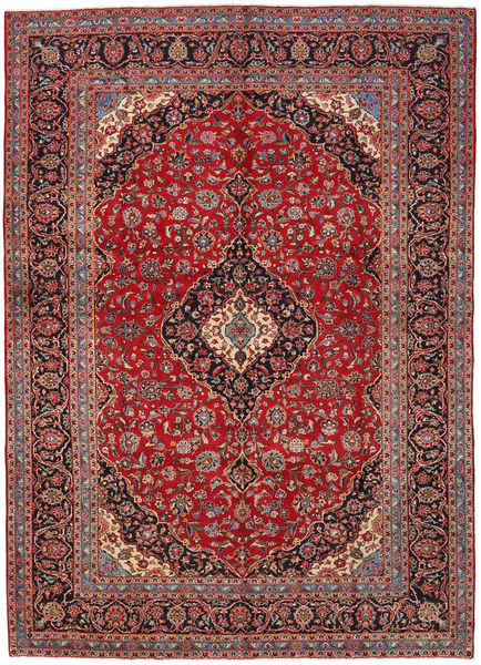 Keshan Rug 282X396 Authentic  Oriental Handknotted Brown/Dark Red Large (Wool, Persia/Iran)