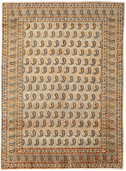 Keshan Rug 283X385 Authentic  Oriental Handknotted Light Brown/Brown Large (Wool, Persia/Iran)