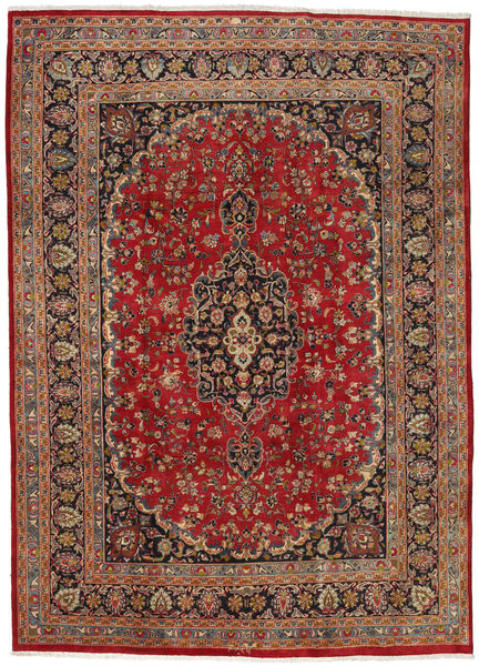 Mashad Rug 237X333 Authentic  Oriental Handknotted Dark Red/Brown (Wool, Persia/Iran)