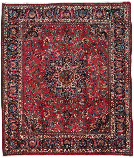 Mashad Rug 254X298 Authentic  Oriental Handknotted Dark Red/Crimson Red Large (Wool, Persia/Iran)