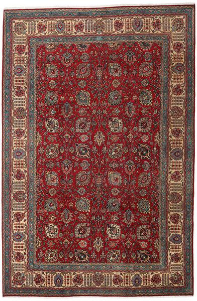 タブリーズ 絨毯 238X360 オリエンタル 手織り 深紅色の/茶 (ウール, ペルシャ/イラン)