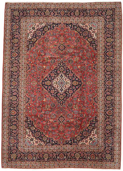 Keshan Rug 247X345 Authentic  Oriental Handknotted Dark Red/Dark Brown (Wool, Persia/Iran)