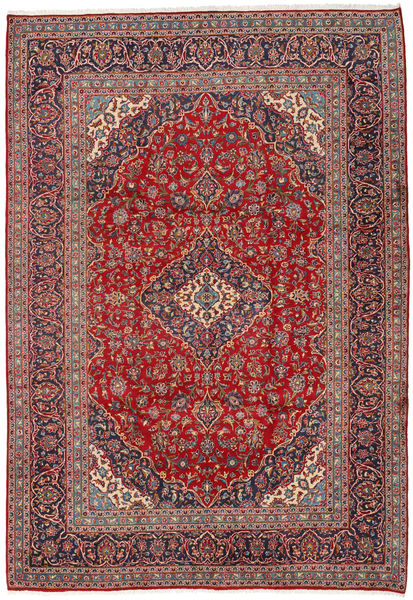 Keshan Rug 242X350 Authentic  Oriental Handknotted Dark Red/Dark Purple (Wool, Persia/Iran)