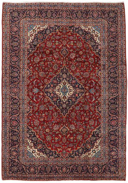Keshan Matto 244X344 Itämainen Käsinsolmittu Tummanpunainen/Ruskea (Villa, Persia/Iran)
