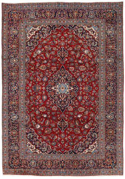 Keshan Matta 242X351 Äkta Orientalisk Handknuten Mörkbrun/Mörkröd (Ull, Persien/Iran)