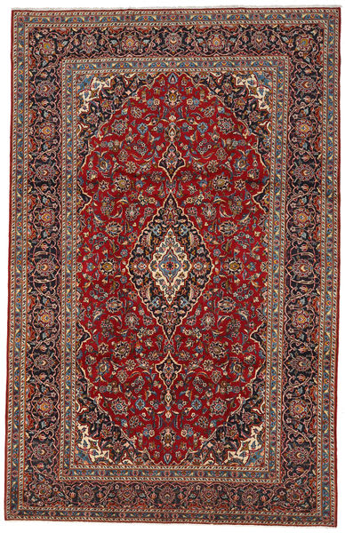 Keshan Rug 225X352 Authentic  Oriental Handknotted Dark Red/Dark Brown (Wool, Persia/Iran)