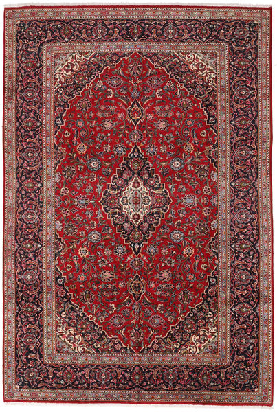 Keshan Matta 260X380 Äkta Orientalisk Handknuten Mörkröd/Mörkbrun Stor (Ull, Persien/Iran)
