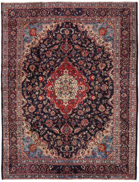 Mashad Rug 294X384 Authentic  Oriental Handknotted Dark Purple/Dark Brown Large (Wool, Persia/Iran)