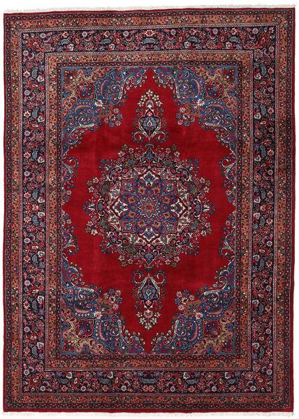 Mashad Matto 243X338 Itämainen Käsinsolmittu Tummanpunainen/Punainen (Villa, Persia/Iran)