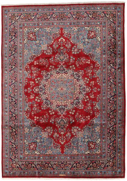 Mashad Matto 243X341 Itämainen Käsinsolmittu Ruskea/Tummansininen (Villa, Persia/Iran)