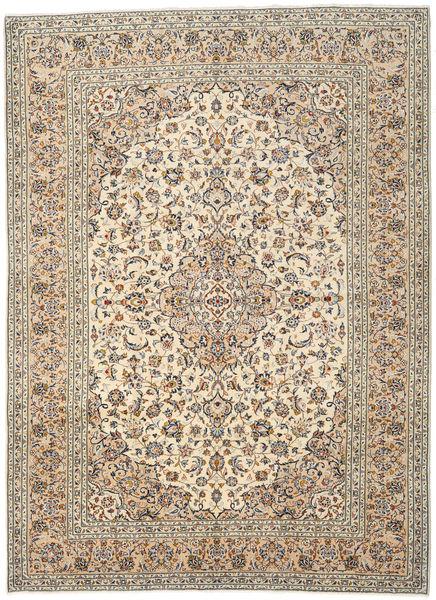 Keshan Rug 241X331 Authentic  Oriental Handknotted Light Brown/Beige (Wool, Persia/Iran)