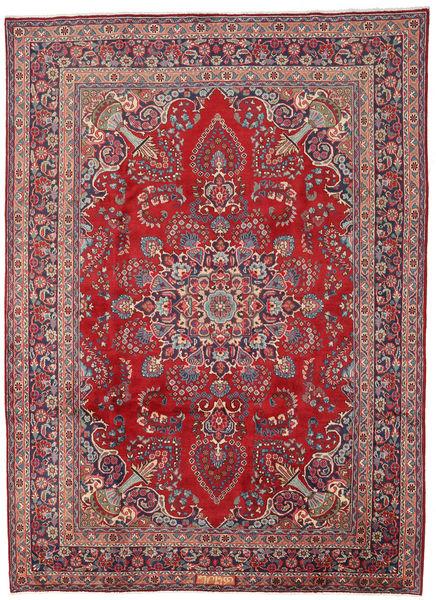 Mashad Matto 242X333 Itämainen Käsinsolmittu Punainen/Tummanpunainen (Villa, Persia/Iran)