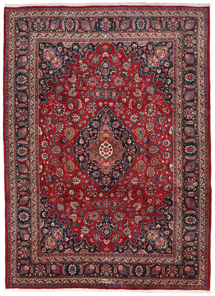 Mashad Rug 252X345 Authentic  Oriental Handknotted Crimson Red/Brown Large (Wool, Persia/Iran)