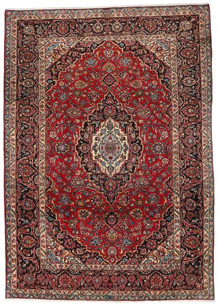Mashad Teppe 253X356 Ekte Orientalsk Håndknyttet Mørk Rød/Brun Stort (Ull, Persia/Iran)