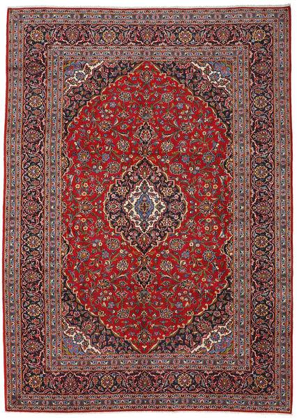 Keshan Matto 243X340 Itämainen Käsinsolmittu Tummanpunainen/Tummanruskea (Villa, Persia/Iran)