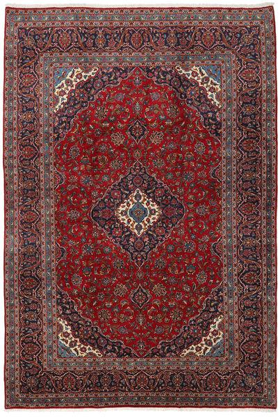 Keshan Matta 246X355 Äkta Orientalisk Handknuten Mörkröd/Mörkbrun (Ull, Persien/Iran)