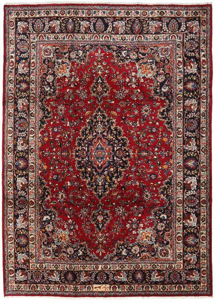 Mashad Matto 240X334 Itämainen Käsinsolmittu Tummanpunainen/Ruskea (Villa, Persia/Iran)