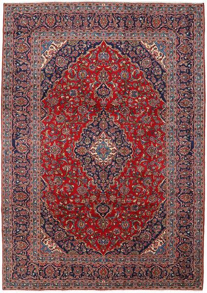 Keshan Rug 250X350 Authentic  Oriental Handknotted Dark Purple/Light Purple Large (Wool, Persia/Iran)