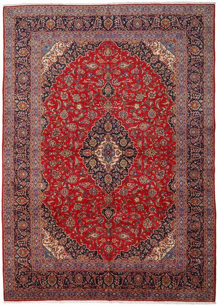 Keshan Matto 298X417 Itämainen Käsinsolmittu Ruskea/Vaaleanvioletti Isot (Villa, Persia/Iran)