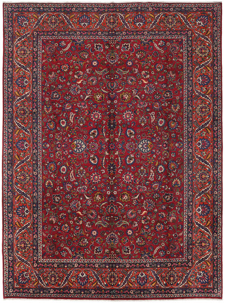 Mashad Rug 285X387 Authentic  Oriental Handknotted Dark Red/Purple Large (Wool, Persia/Iran)