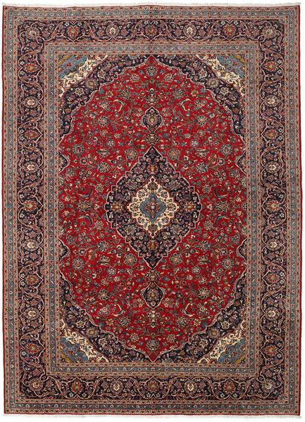 Keshan Rug 296X400 Authentic  Oriental Handknotted Dark Red/Dark Brown Large (Wool, Persia/Iran)