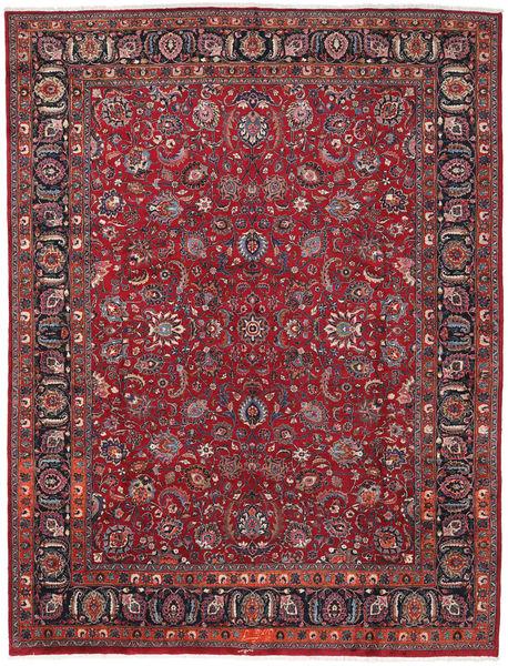 Mashad Matta 287X378 Äkta Orientalisk Handknuten Mörkbrun/Röd Stor (Ull, Persien/Iran)