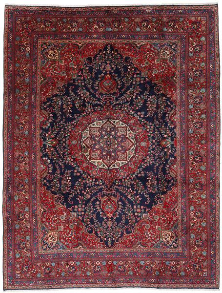 Mashad Matto 292X381 Itämainen Käsinsolmittu Tummanpunainen/Tummanvioletti Isot (Villa, Persia/Iran)