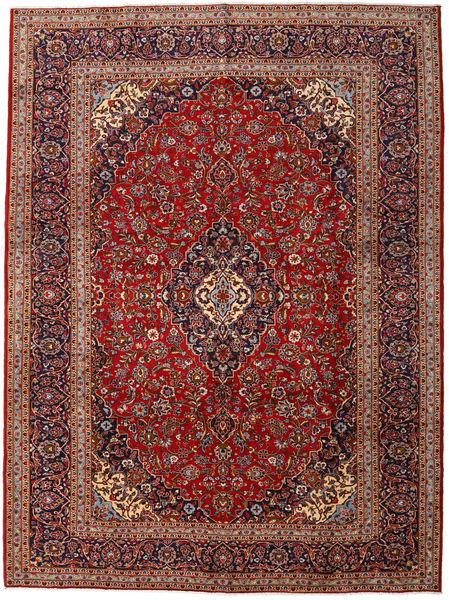 Keshan Matto 293X394 Itämainen Käsinsolmittu Tummanpunainen/Ruskea Isot (Villa, Persia/Iran)