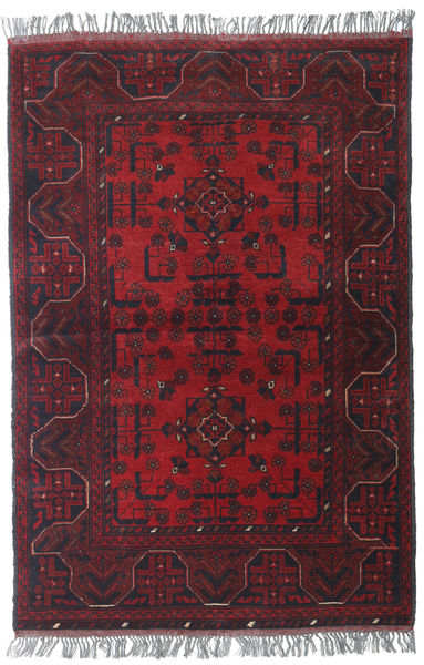 Afghan Khal Mohammadi Vloerkleed 99X146 Echt Oosters Handgeknoopt Donkerrood/Donkerbruin (Wol, Afghanistan)