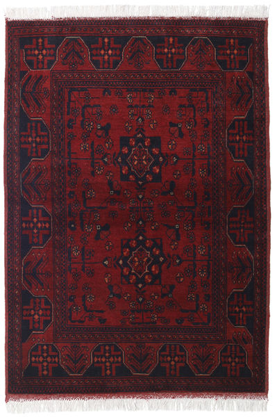 Afghan Khal Mohammadi Rug 104X145 Authentic  Oriental Handknotted Dark Red (Wool, Afghanistan)