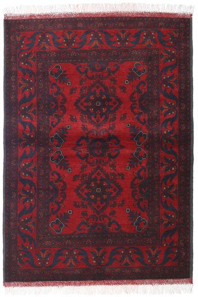 Afghan Khal Mohammadi Matto 105X146 Itämainen Käsinsolmittu Tummanpunainen/Tummanvihreä (Villa, Afganistan)