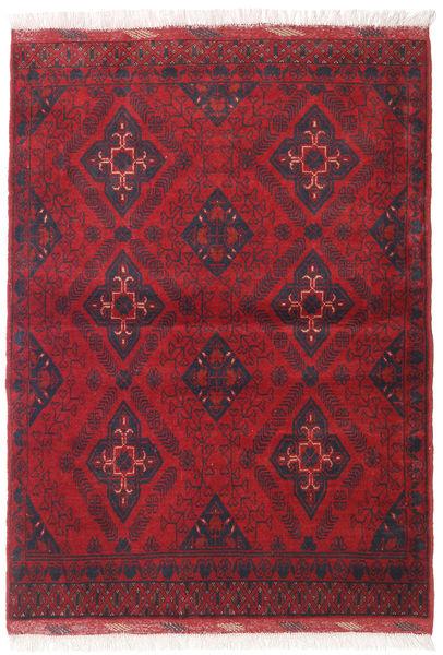 Afghan Khal Mohammadi Matto 106X143 Itämainen Käsinsolmittu Tummanpunainen/Punainen (Villa, Afganistan)