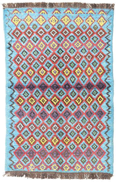Barchi/Moroccan Berber - Afganistan Matta 90X138 Äkta Modern Handknuten Ljusblå/Ljusbrun (Ull, Afghanistan)
