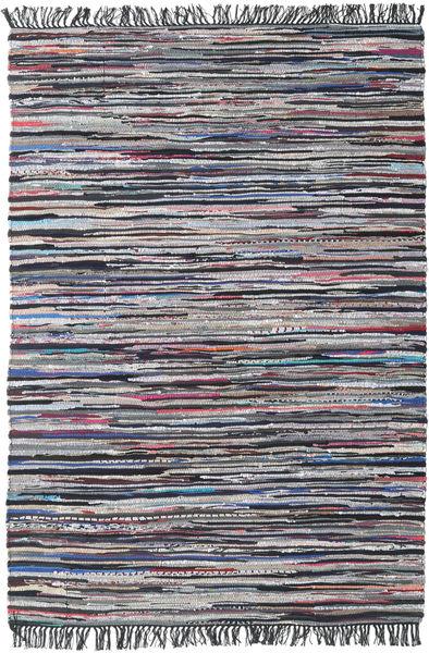 Cottolina - Negru/Multi Covor 160X230 Modern Lucrate De Mână Gri Închis/Gri Deschis (Bumbac, India)