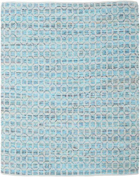 Elna - Bright_Blue Dywan 250X300 Nowoczesny Tkany Ręcznie Jasnoniebieski/Jasnoszary Duży (Bawełna, Indie)