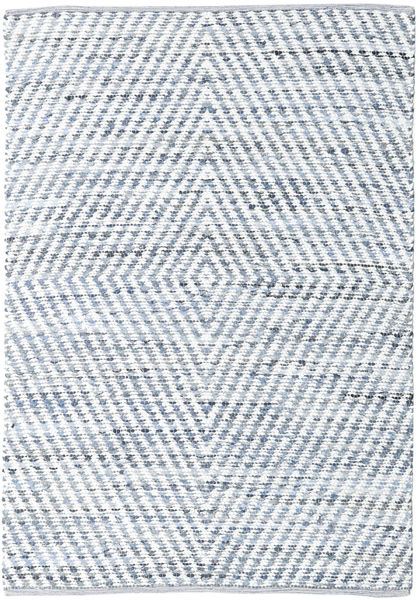 Hilda - Denim/White Rug 140X200 Authentic  Modern Handwoven Beige/Light Blue (Cotton, India)