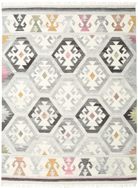 Mayor - Grey Rug 210X290 Authentic  Modern Handwoven Beige/Light Grey (Wool, India)