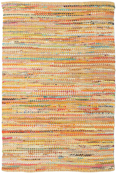 Ronja - Yellow Rug 170X240 Authentic  Modern Handwoven Dark Beige/Orange (Cotton, India)