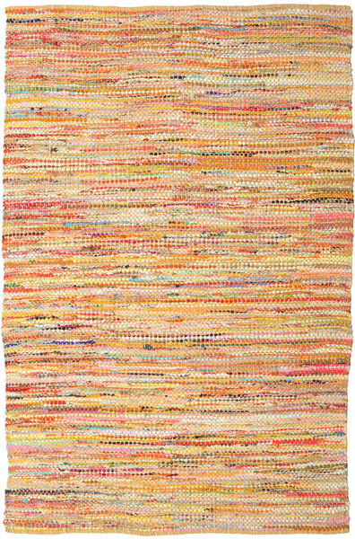 Ronja - Yellow Rug 200X300 Authentic  Modern Handwoven Light Brown/Orange (Cotton, India)
